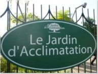 sign at entry of Le Jardin d'Acclimatation