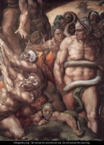 Detail from The Last Judgment--Michelangelo