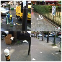 Garbage on Paris streets